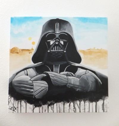 40x40 cm van Darth Vader en Tatooine op de achtergrond