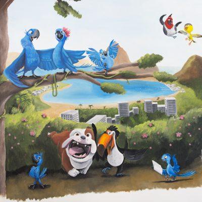 Muurschildering Rio