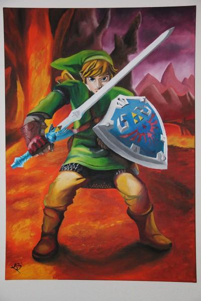 Link en Death Mountain uit Zelda