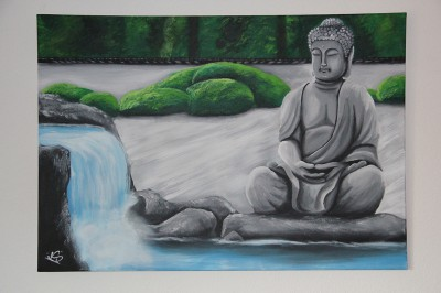 Cancas van 100x70 cm van boeddha