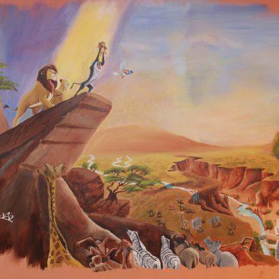 Muurschildering van The Lion King